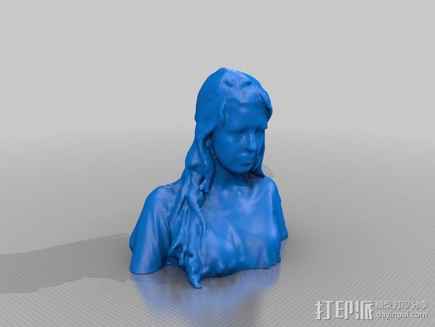 人物模型 半身塑像 3D模型  图1