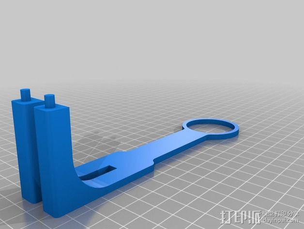 线轴支撑架 3D模型  图5