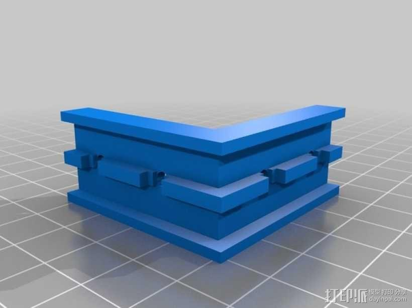 Openbeams打印机右拐角保护器 3D模型  图1