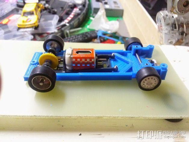 spirit peugeot 205标致汽车模型底盘 3D模型  图2