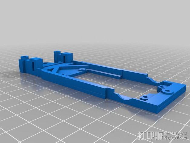 spirit peugeot 205标致汽车模型底盘 3D模型  图1