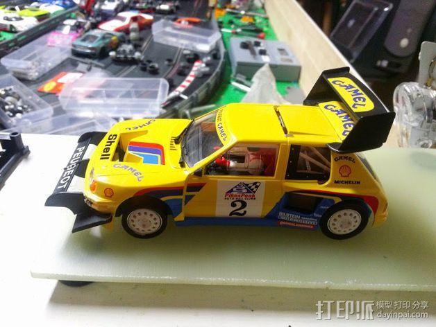 spirit peugeot 205标致汽车模型底盘 3D模型  图5