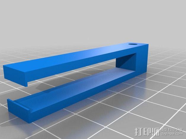 线夹 线材导线器 3D模型  图1