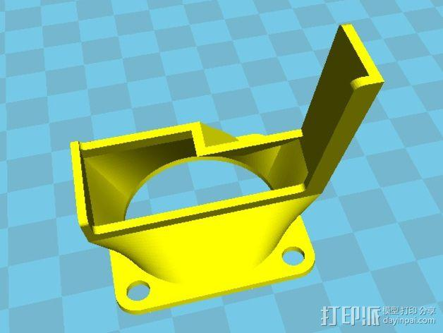 风扇罩 风扇导管 3D模型  图2