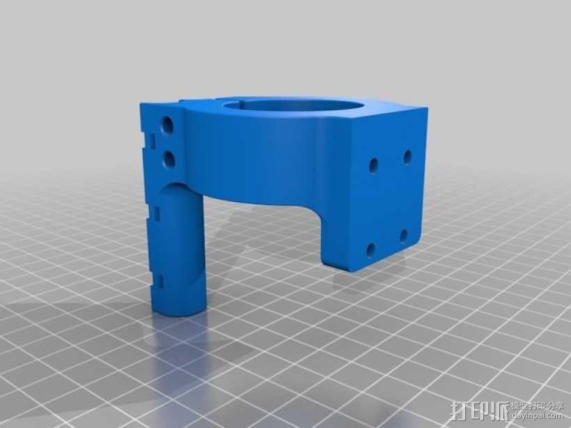 挤出机马达支架 3D模型  图2