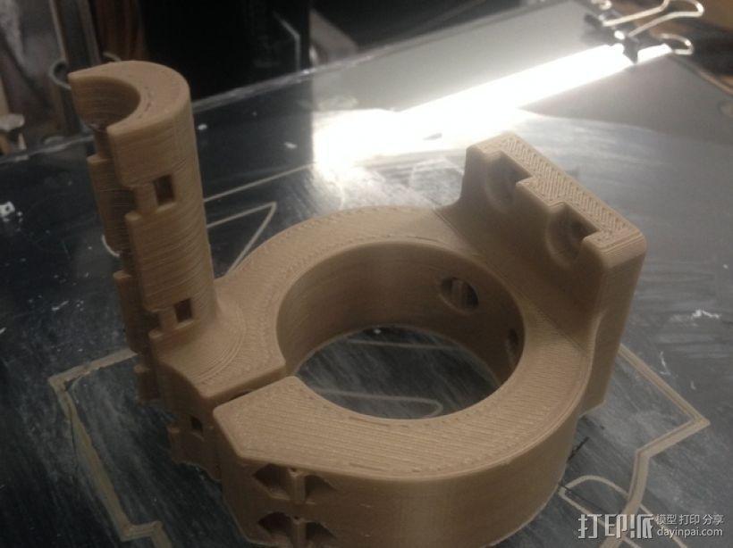 挤出机马达支架 3D模型  图4