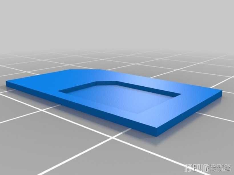 SIM卡卡套 适配器 3D模型  图1