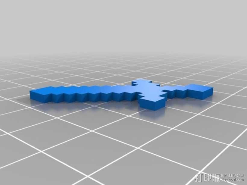我的世界 剑 3D模型  图1