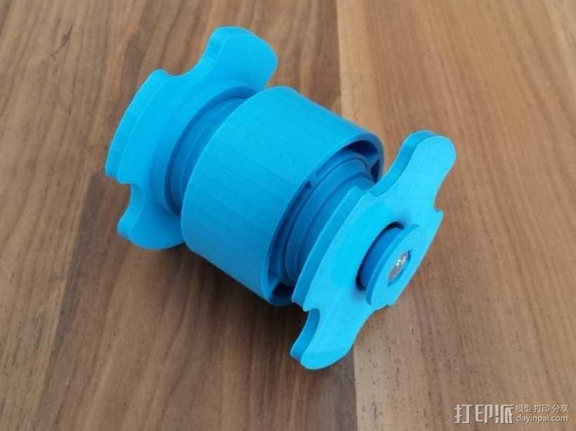 低摩擦线轴支架 3D模型  图1