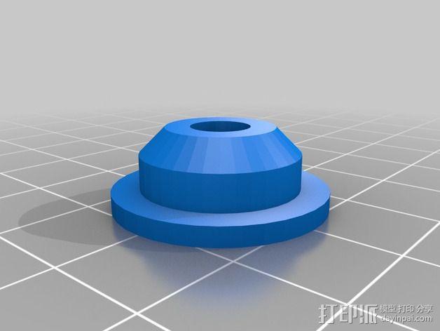 低摩擦线轴支架 3D模型  图2