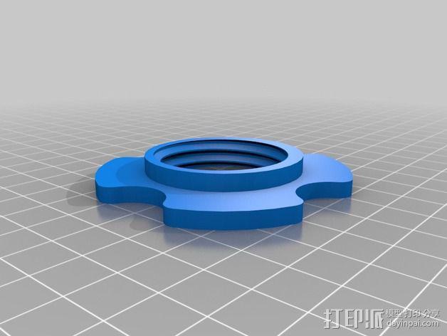 低摩擦线轴支架 3D模型  图5