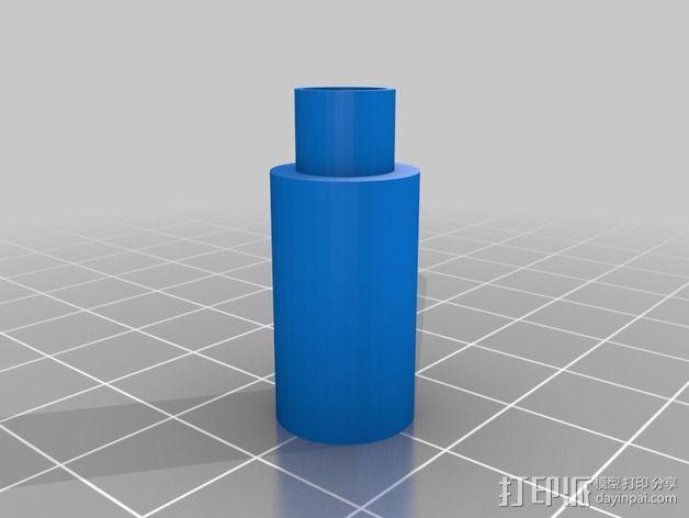 低摩擦线轴支架 3D模型  图3