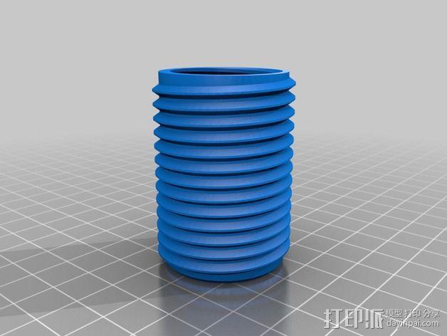 低摩擦线轴支架 3D模型  图7