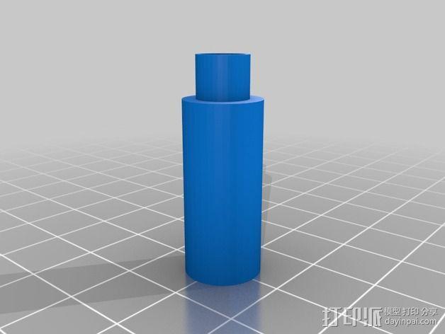 低摩擦线轴支架 3D模型  图6