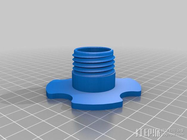 低摩擦线轴支架 3D模型  图8