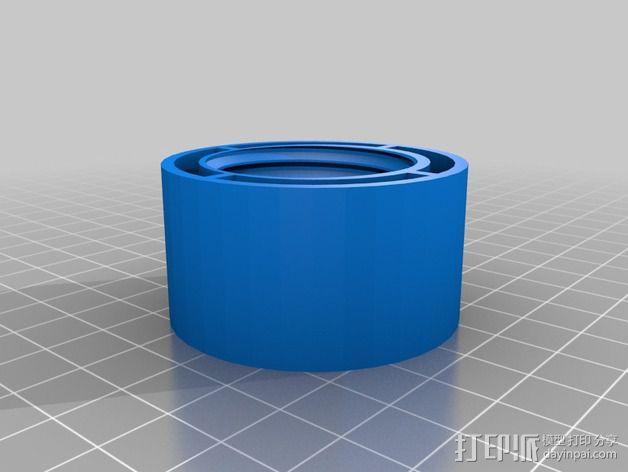低摩擦线轴支架 3D模型  图9
