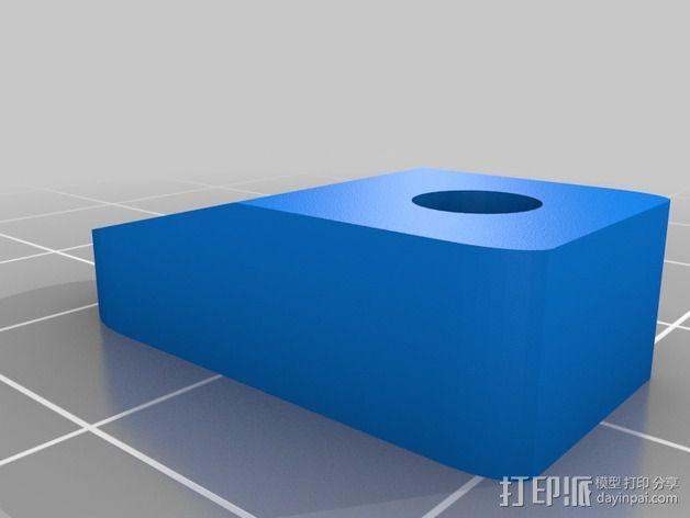 Lulzbot TAZ 4 打印机热床顶夹 3D模型  图2