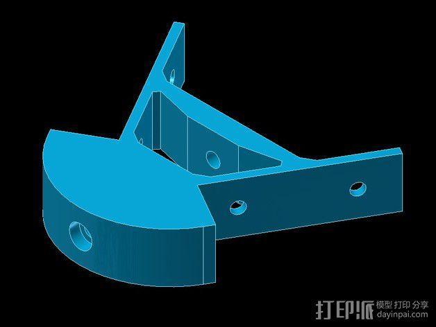 Kossel mini打印机顶部框架 3D模型  图4
