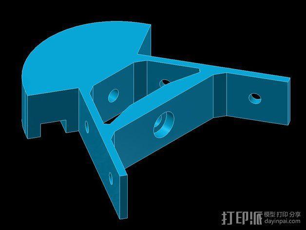 Kossel mini打印机顶部框架 3D模型  图3