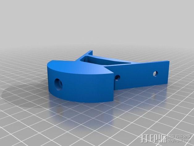 Kossel mini打印机顶部框架 3D模型  图2