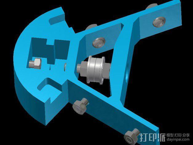 Kossel mini打印机顶部框架 3D模型  图6