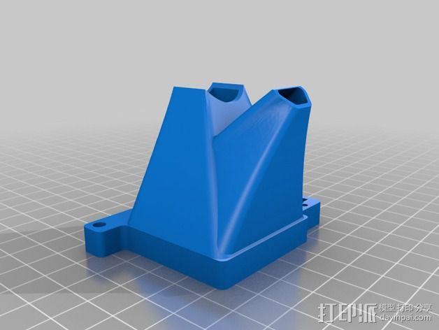 Lulzbot TAZ打印机风扇导管 调平器 3D模型  图2