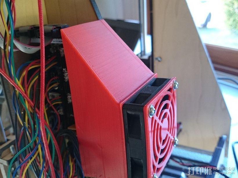 Makerfarm Prusa i3打印机处理器风扇 散热器 3D模型  图1