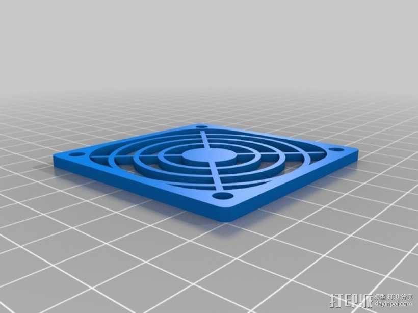 Makerfarm Prusa i3打印机处理器风扇 散热器 3D模型  图3