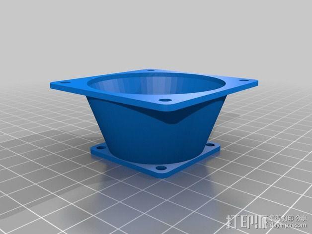 风扇适配器 风扇导管 3D模型  图3