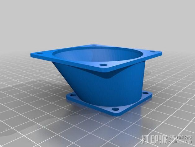 风扇适配器 风扇导管 3D模型  图4