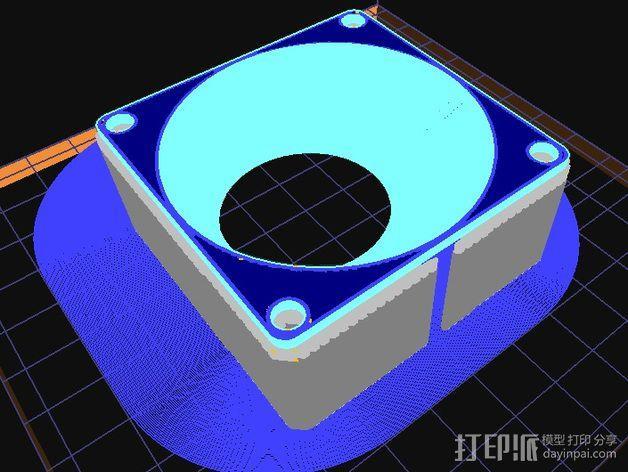 风扇适配器 风扇导管 3D模型  图5