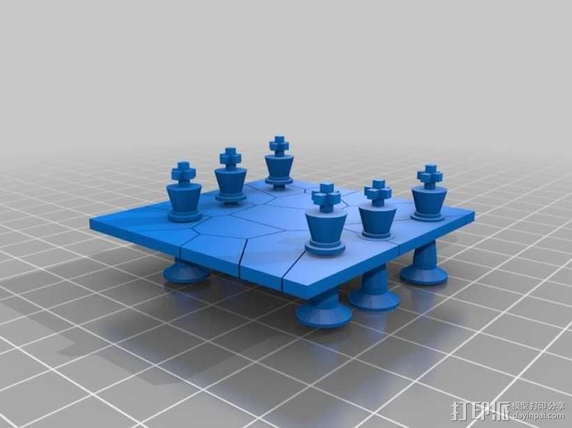 国际象棋 棋子  3D模型  图1