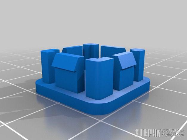 Rigidbot打印机管端盖板 3D模型  图2