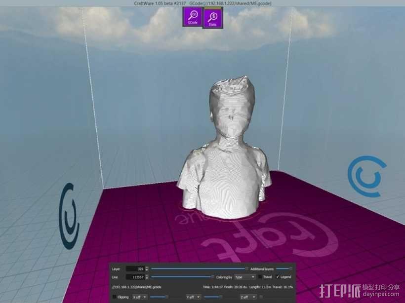 低面数人物半生像 3D模型  图1