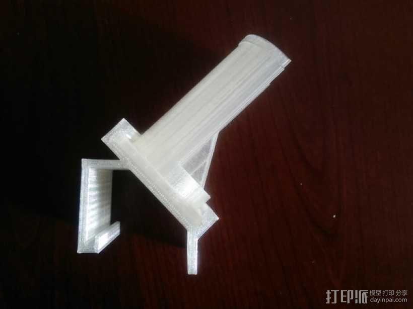 Makerbot Gen5打印机参数化线轴支架 3D模型  图3