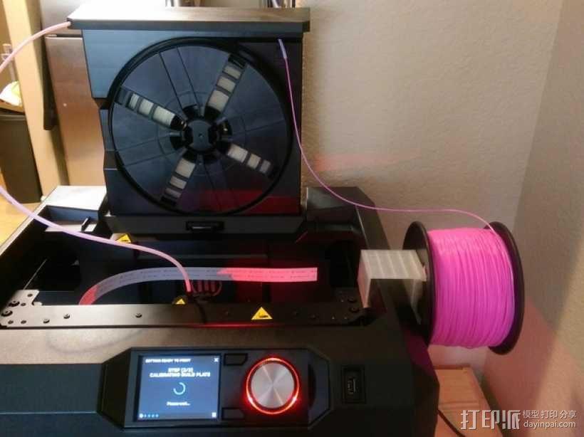 Makerbot Gen5打印机参数化线轴支架 3D模型  图10