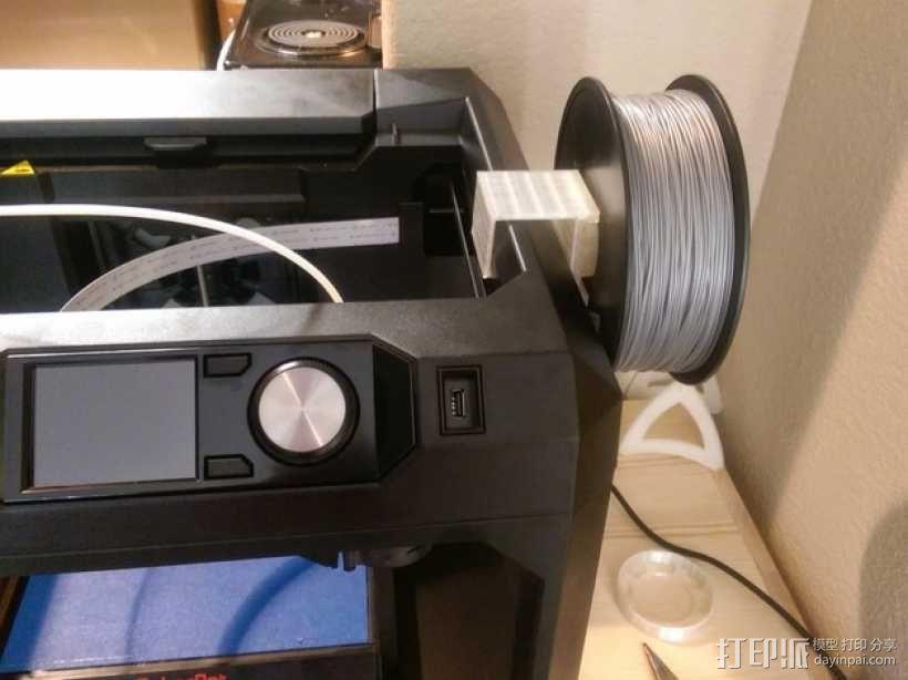 Makerbot Gen5打印机参数化线轴支架 3D模型  图11