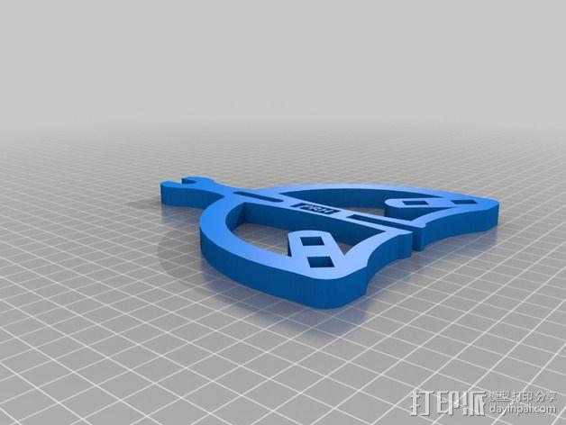 独立式线轴支架 3D模型  图3
