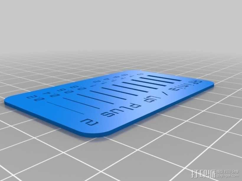 打印测试 空隙测试 3D模型  图1