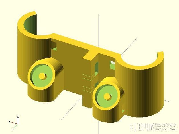 磁力部件连接器 3D模型  图2