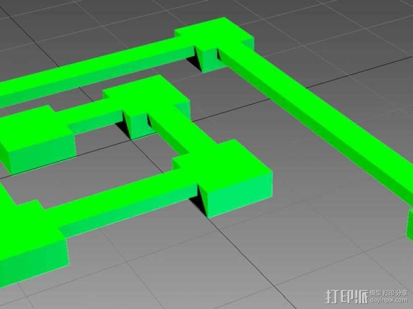桥接测试 打印测试 3D模型  图1