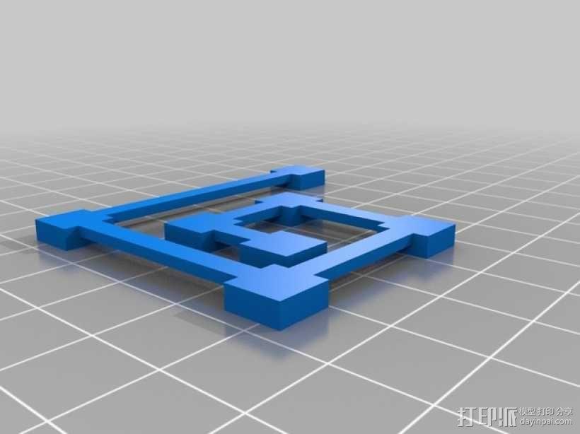 桥接测试 打印测试 3D模型  图2