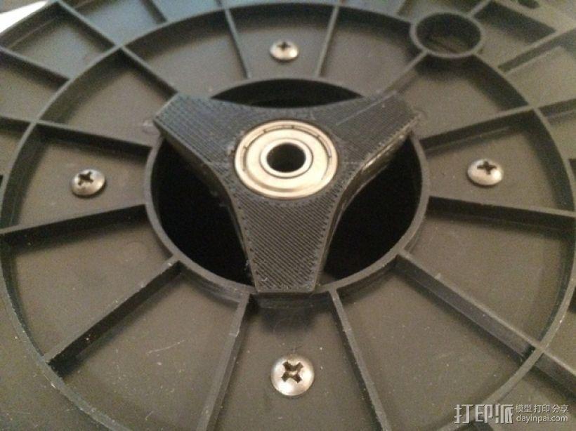 滚珠轴承线轴支撑架 3D模型  图1