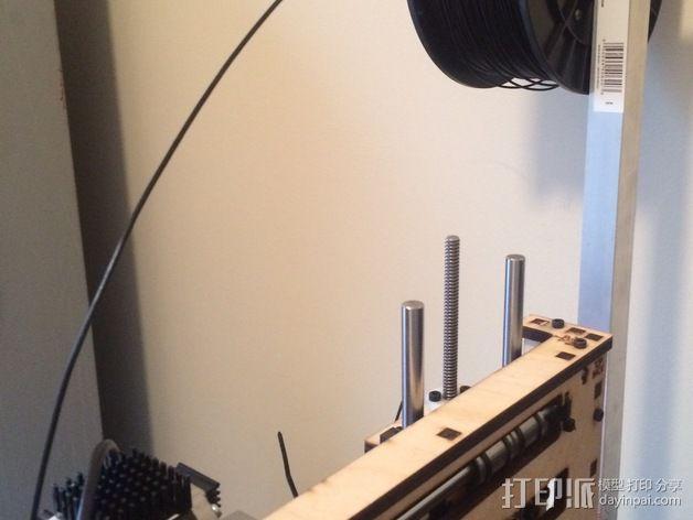 滚珠轴承线轴支撑架 3D模型  图7
