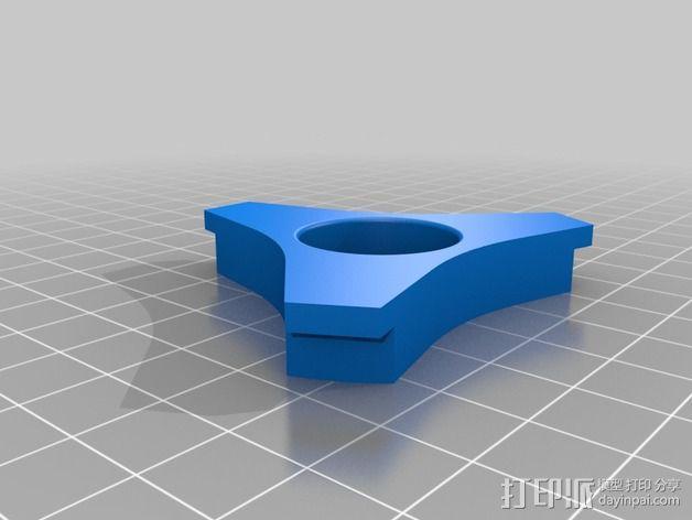滚珠轴承线轴支撑架 3D模型  图4
