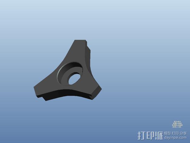 滚珠轴承线轴支撑架 3D模型  图6