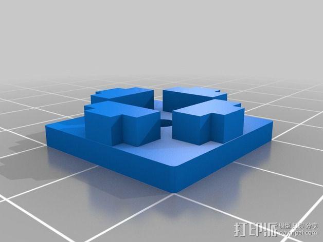 管端盖帽 3D模型  图2