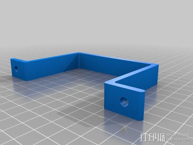 Solidoodle 4打印机电源支架 3D模型  图4