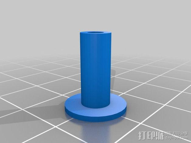 弹簧导杆 3D模型  图2