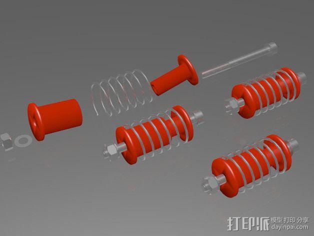 弹簧导杆 3D模型  图4